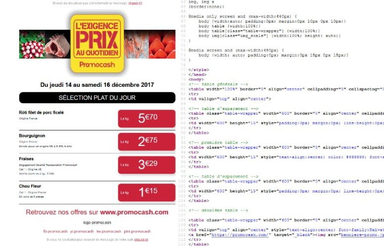 emailing responsive html css